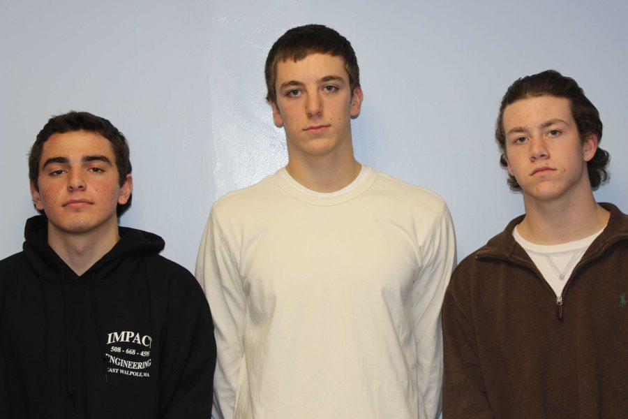 The senior captains of the Boys Hockey team.