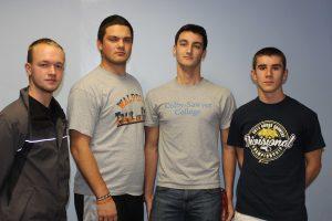 The Winter Track senior captains.