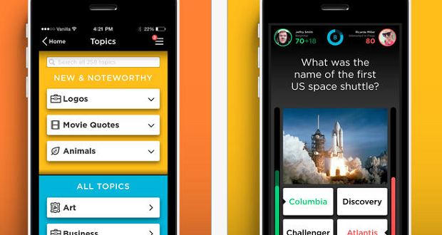 QuizUp Climbs Up The Charts For Best App