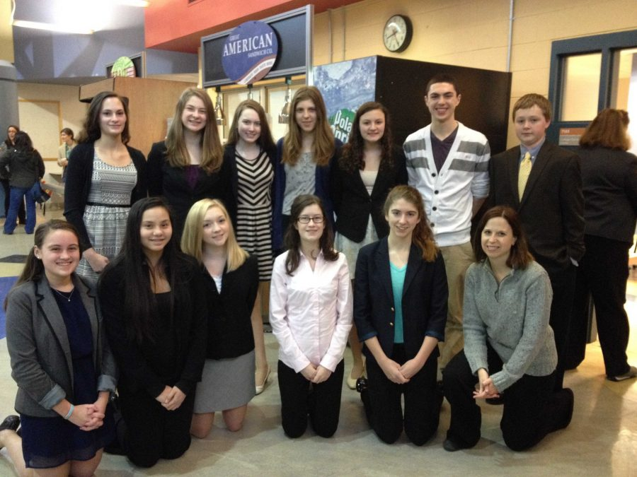 The Speech Team attends a successful tournament at Newton-South High School where four students received a bid for States.