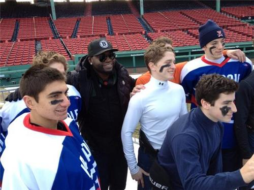 Players had the opportunity of hanging out with David Ortiz after the game.