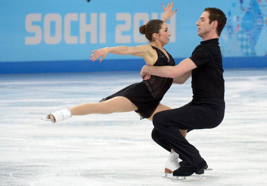 Simon Shnapir and Marissa Castelli compete in the Sochi Olympics