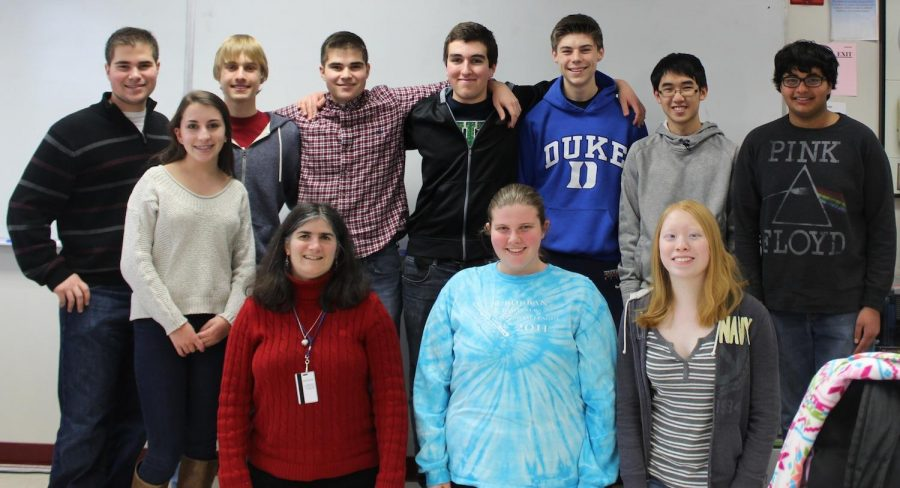 The Math Team poses for a picture.