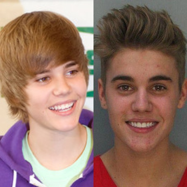 Justin Bieber has been building up a bad boy image for the past year, culminating in his recent arrest.