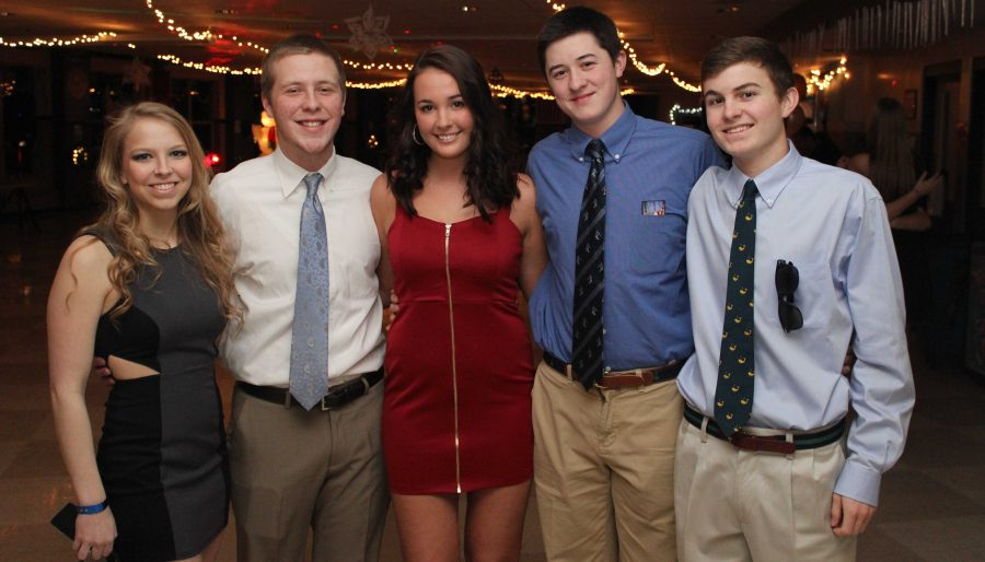 Students pose for a picture at the Winter Ball