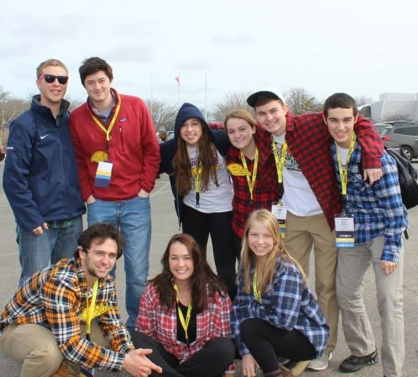 Student Council members pose for a picture at MASC.