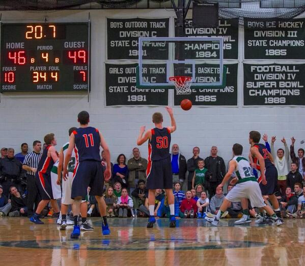 A Walpole forward hits a free throw to seal the win.