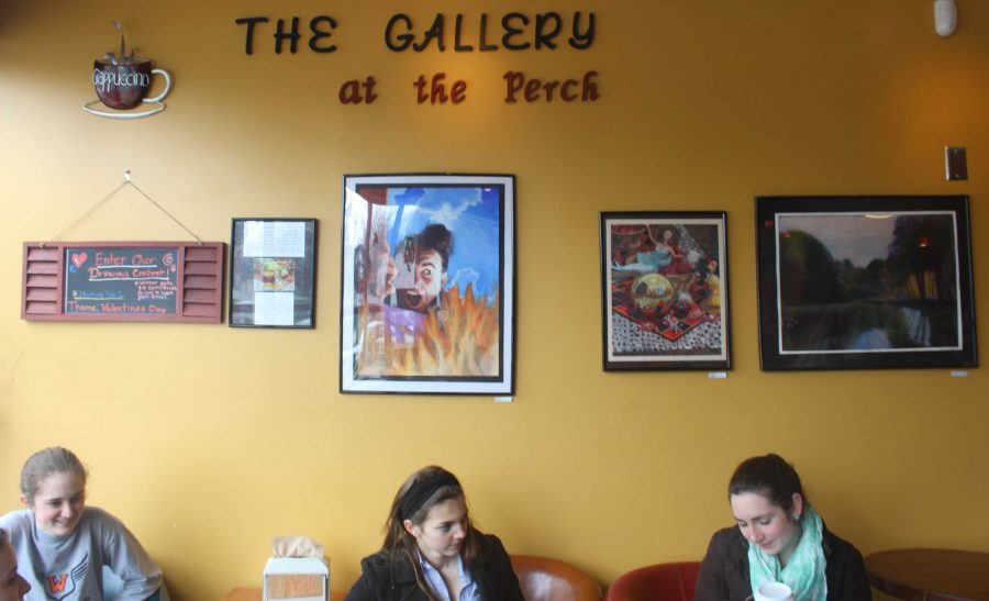 Walpole High students enjoy an afternoon coffee in the