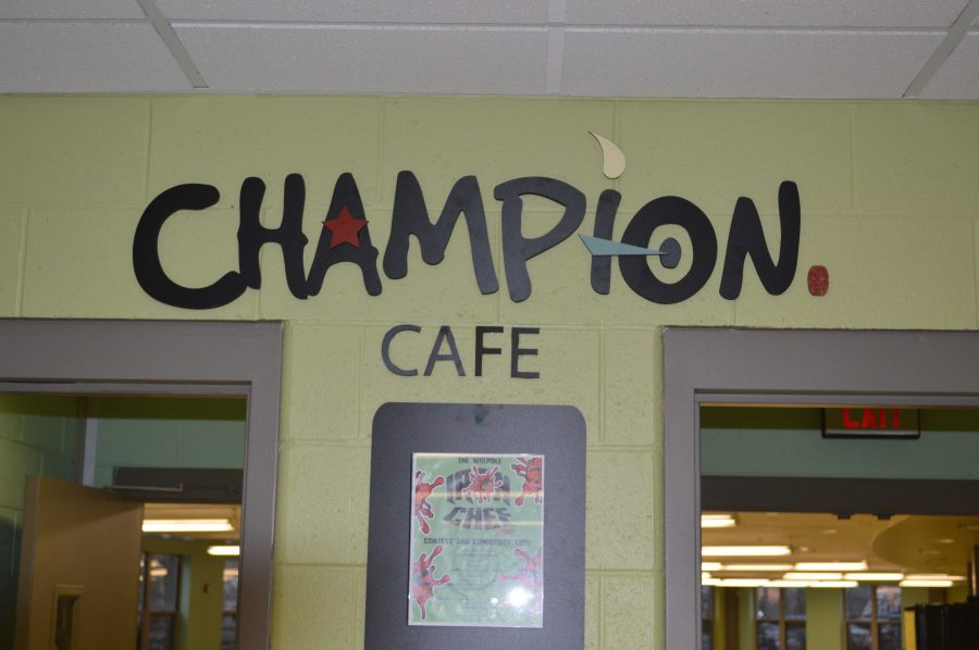 The new Champion Cafe entrance.