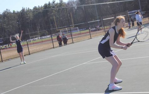 Girls Tennis vs. Dedham, April 1, 2014