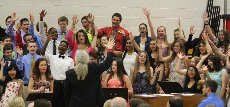 Students perform in the last musical performance of the year,