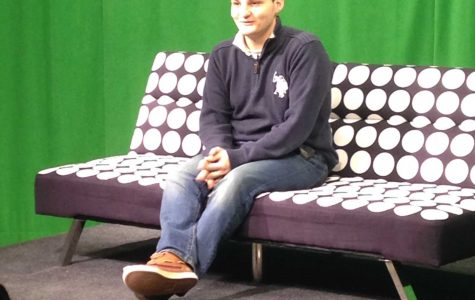 Junior Brendan Jeannette Films His Commentary for the Premiere Episode of