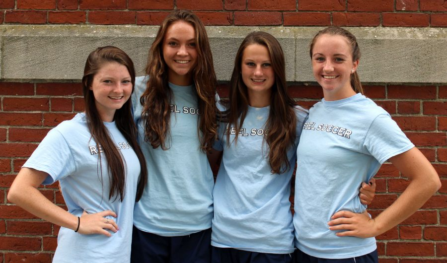 The Walpole Girls Soccer Captains pose for a picture before their game on September 9.