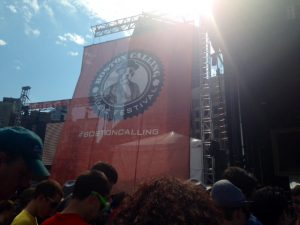 The Boston Calling Festival endured despite high temperatures and dangerous storms during the Saturday show.