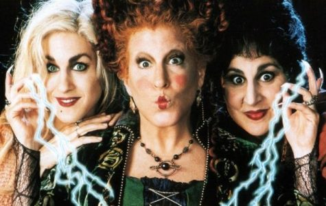The Sanderson sisters lead the spooky but fun-filled Halloween classic Hocus Pocus.