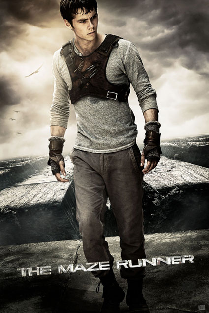 Protagonist Dylan O'Brien Poses on Maze Runner Poster