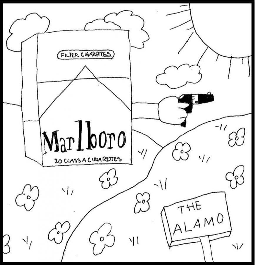 The Alamo. By Sophia Giovaniello and Melanie Weber