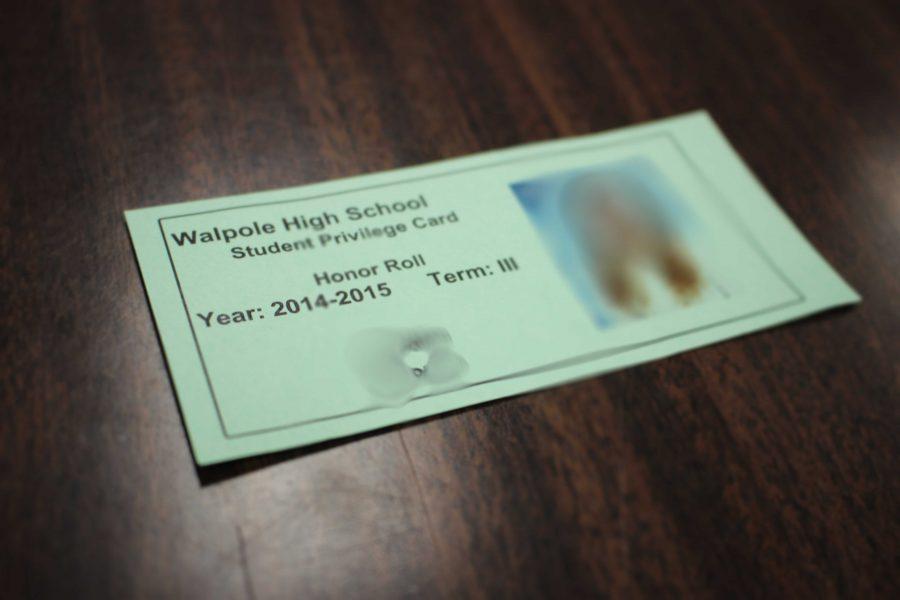 Privilege Cards Blacklist Some of Walpole High's Hardest Workers