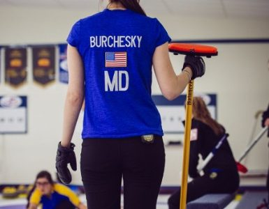 Jenna Burchesky competes for Team Maryland at the Optimist U-18 International Curling Championship.