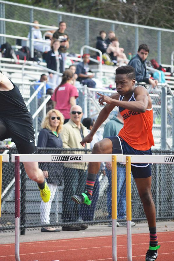 Walpole athlete finishes second in 110m hurdle race, with a time of 16.34 seconds.