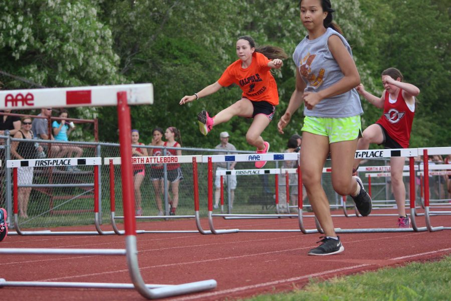 Middle school athlete chases the competition.