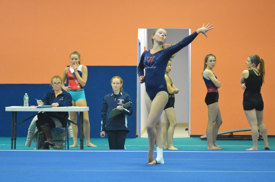 Gallery: Gymnastics Falls Short of a Second Win against Weymouth and Westwood