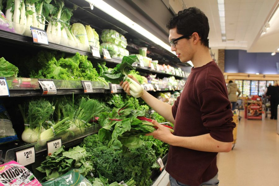 Moriarty  finds foods that fit his diet at grocery stores such as Stop and Shop and Big Y, despite the common misconception that only high end grocery stores such as Whole Foods offer a wide range of vegetarian or vegan options.