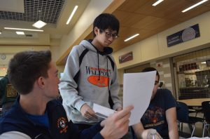 Sophomore exchange student Henry Woo, pictured with sophomores Billy Porter and Henry Rose, has been a crucial member of the math team, helping them reach the playoffs for the first time in 6 years.