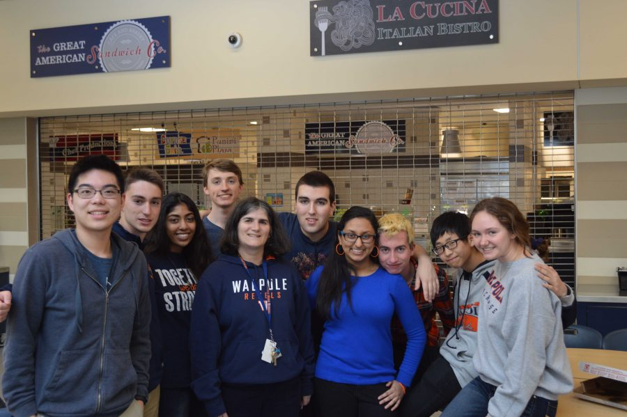 The Math Team members pose for a picture at their meet at Franklin High School on March 3, 2016.