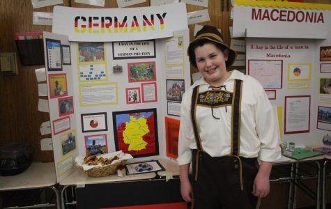 6th grader, Austin McCarthy, showcases his German heritage