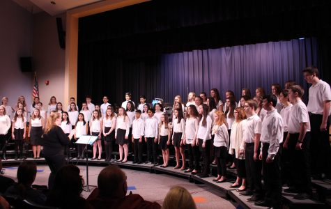 Johnson and Bird Middle School music students perform their Winter Concert at Walpole High School
