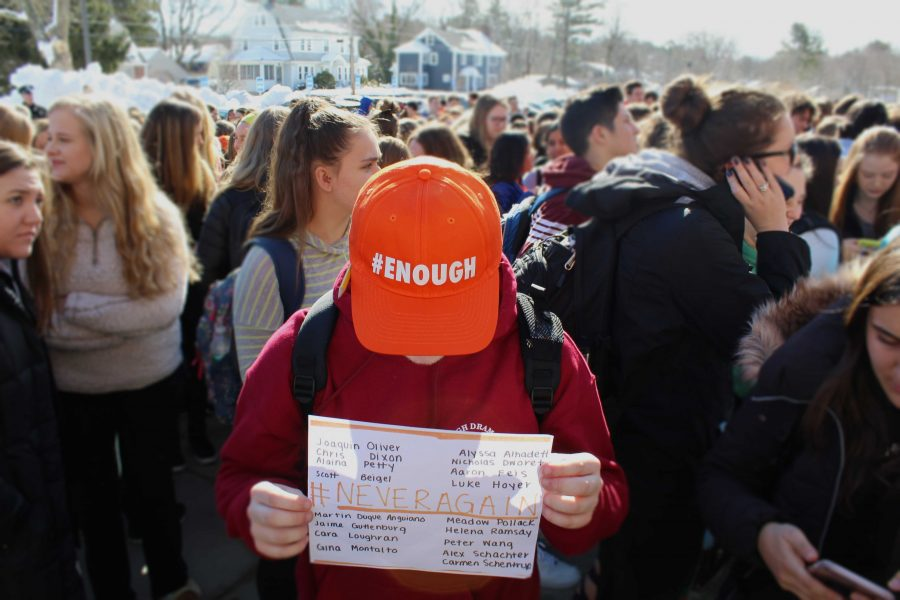 Riley Mulroy honors the dead killed in the Parkland shootings.