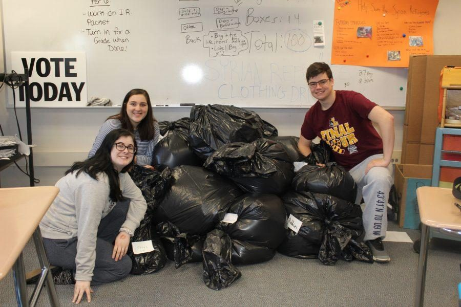 Walpole High Students Hold Clothing Drive to Help Syrian Refugees