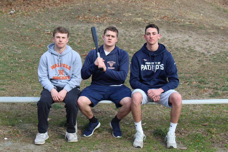 Seniors Tyler Page, Danny O'Leary, and Jack Barry will play as a team in O'Leary's wiffle ball tournament.
