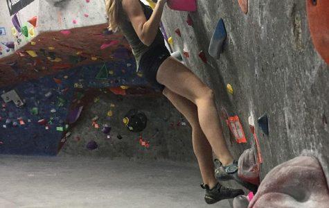 Allman Competes Nationally for Rock Climbing