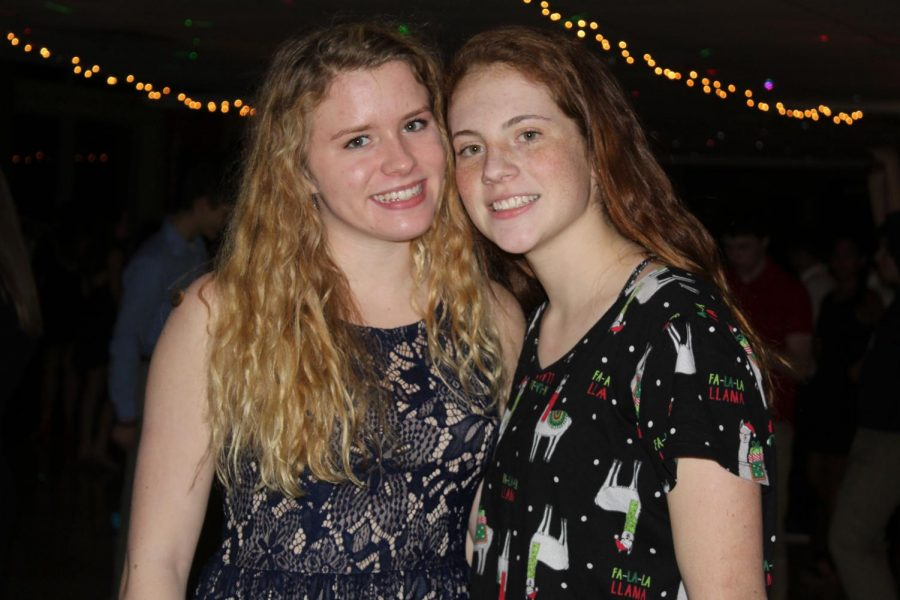 Seniors Abby Rae and Jess Horne pose during the Winter Ball.