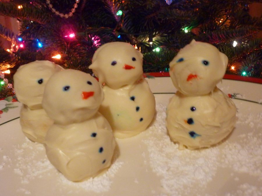 Cooking with Katie: Marzipan Snowmen