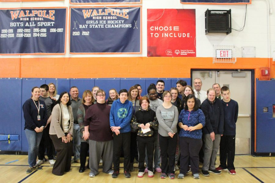 Best Buddies Unified Track Team Receives Special Olympics Unified Champion School Banner