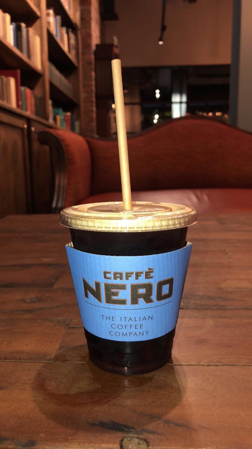 Coffee with a sustainable paper straw.   Photo/ Kate McLellan