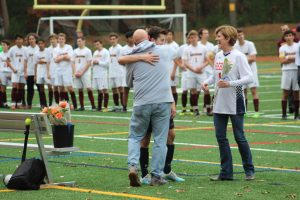 Boys Soccer Ties with Sharon 1-1 on Senior Night