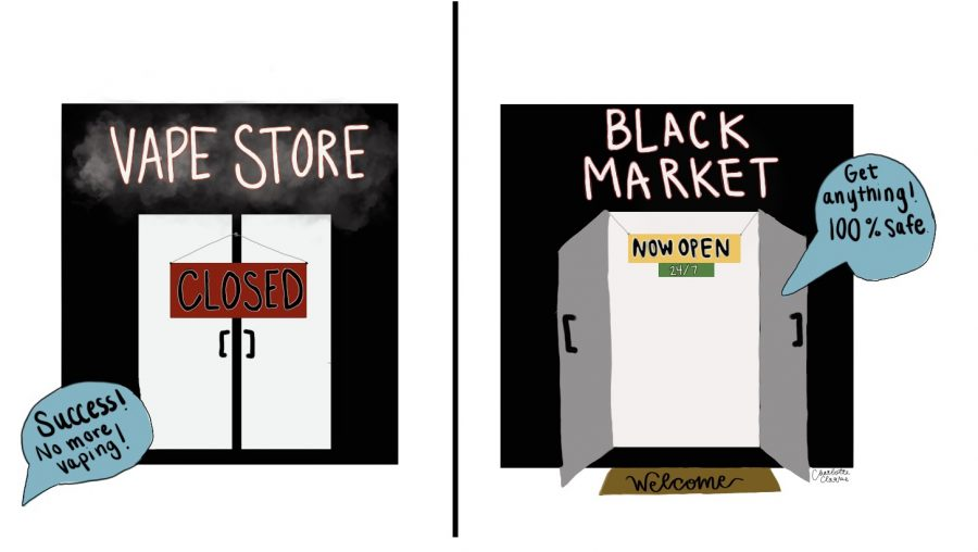 Because vape stores in Massachusetts close, the black market expands its horizons.