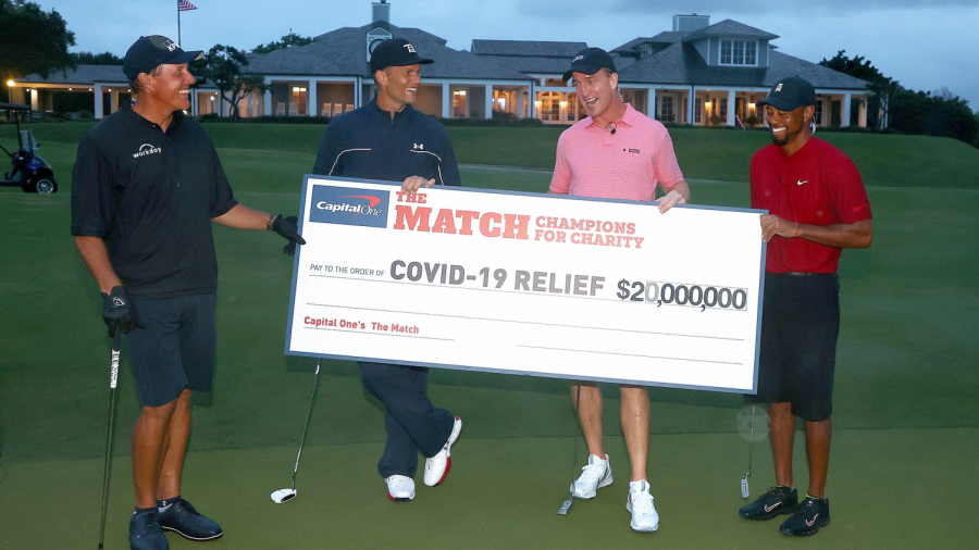 "NFL Athletes and Pro Golfers Compete at ""Champions for Charity"""